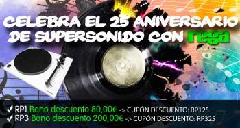 ¡Celebra el 25 aniversario de Supersonido con REGA!