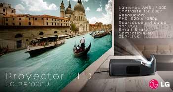 Proyector LED LG PF1000U