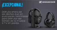Ofertas dúo en auriculares Sennheiser