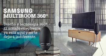 El sonido envolvente de Samsung Multiroom 360º
