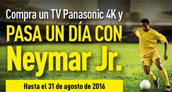 Compra un televisor Panasonic 4k y pasa un día jugando al fútbol con Neymar