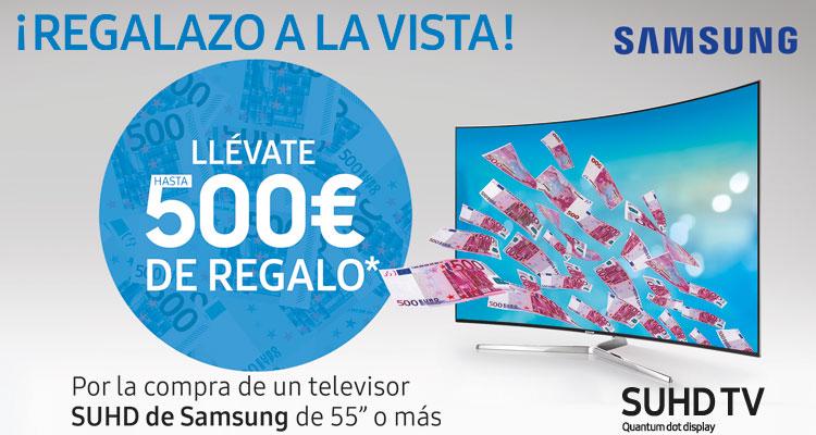 SAMSUNG SUHD TV: ¡llévate hasta 500€ de regalo!
