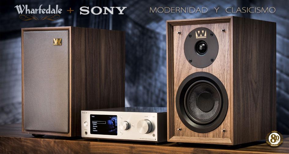 Wharfedale + Sony: modernidad y clasicismo