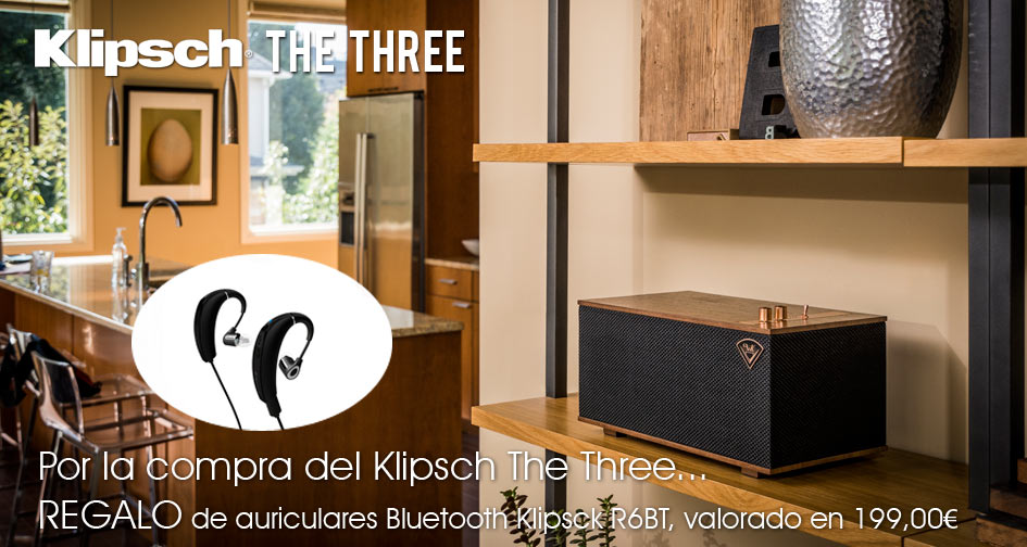 Klipsch The Three: regalo auriculares Bluetooth