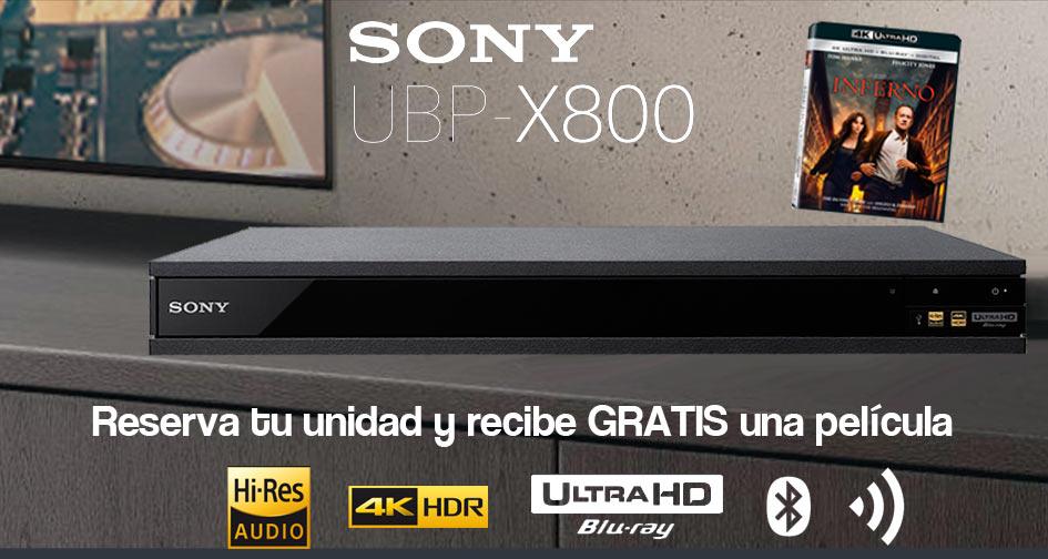 Nuevo Sony UHD Bluray UBP-X800: regalo 2 películas