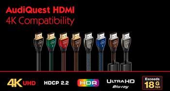 AUDIOQUEST HDMI: Compatibles con 4k