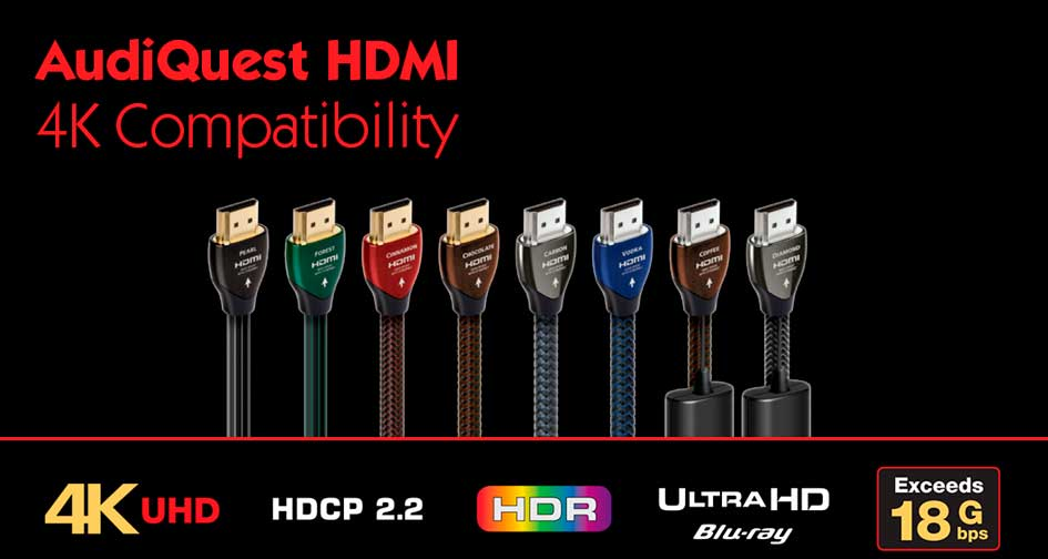 AUDIOQUEST HDMI: Compatibles con 4k