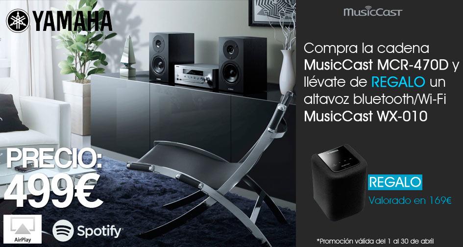 Yamaha MCR-470D: regalo altavoz MusicCast WX-010