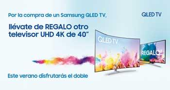 Este verano disfruta el doble comprando un televisor QLED de Samsung