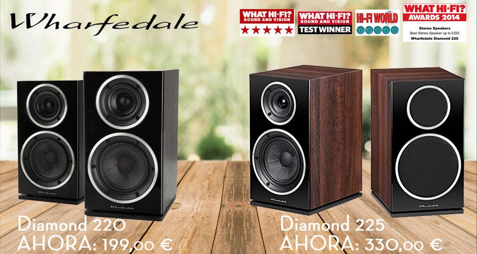 WHARFEDALE DIAMOND 220 y 225: super oferta