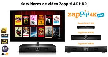 Servidores de vídeo Zappiti 4K HDR