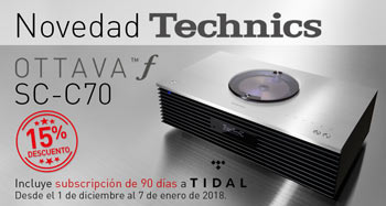TECHNICS OTTAVA SC-C70: Con subscripción a Tidal