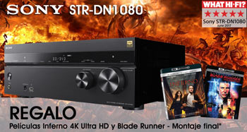 SONY STR-DN1080: regalo blu-ray Inferno y Blade Runner