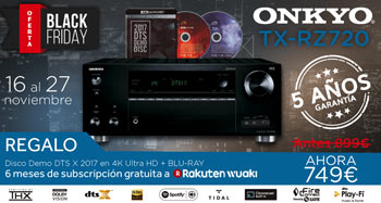 ONKYO TX-RZ720: Precios especiales Black Friday