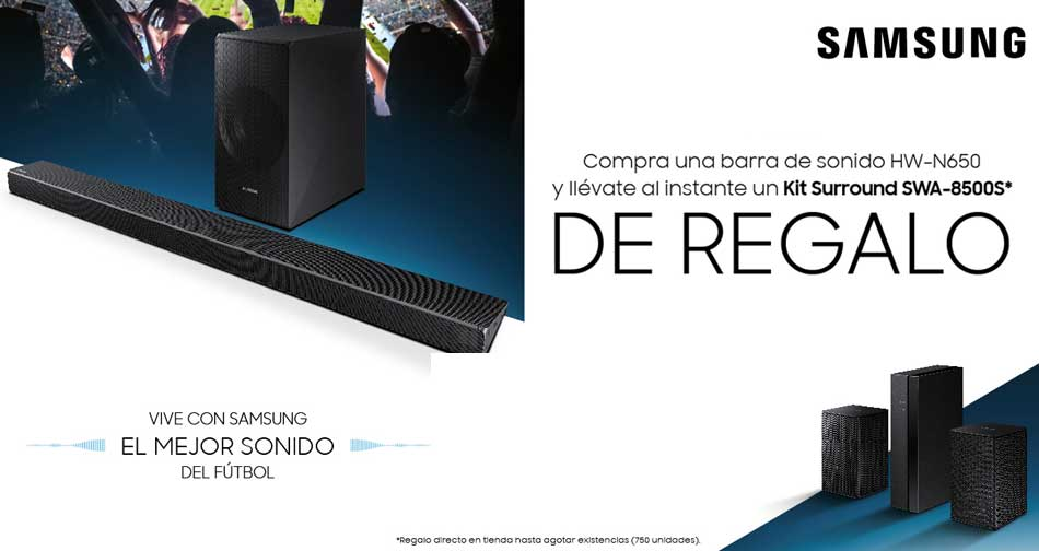 SAMSUNG HW-N650: de regalo kit surround SWA-8500S