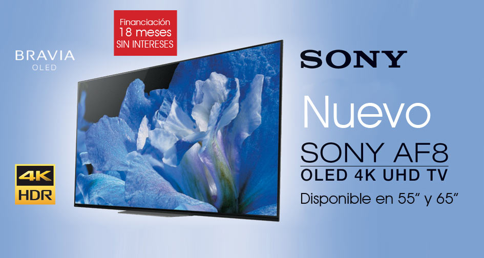 SONY BRAVIA AF8 OLED: disponible en 55 y 65
