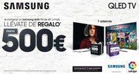 SAMSUNG QLED TV: hasta 500€ de regalo