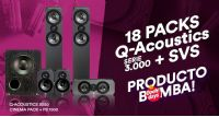 PRODUCTO BOMBA: 18 Packs Q-Acoustics serie 3000 +SVS