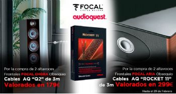 FOCAL CHORA ARIA + AudioQuest: obsequio cables