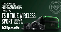 KLIPSCH T5 TRUE WIRELESS SPORT