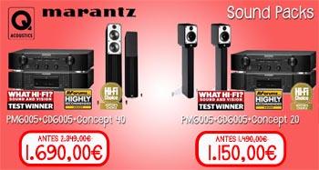 Packs de sonido de Q Acoustics y Marantz