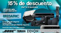 15% de descuento en Home Cinema y Alta Fidelidad