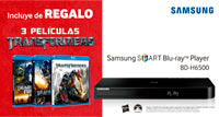 3 películas de REGALO con Samsung Smart Blu-Ray Player