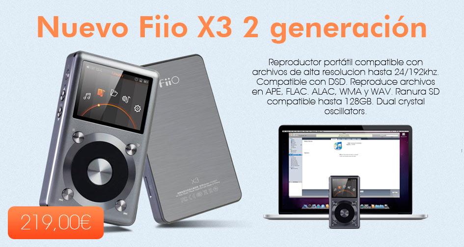 Fiio X3 de segunda generación