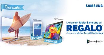 Llévate un Tablet Samsung con tu televisor Curvo UHD