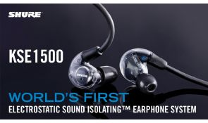 Nuevo sistema de auriculares electroestáticos Shure KSE1500