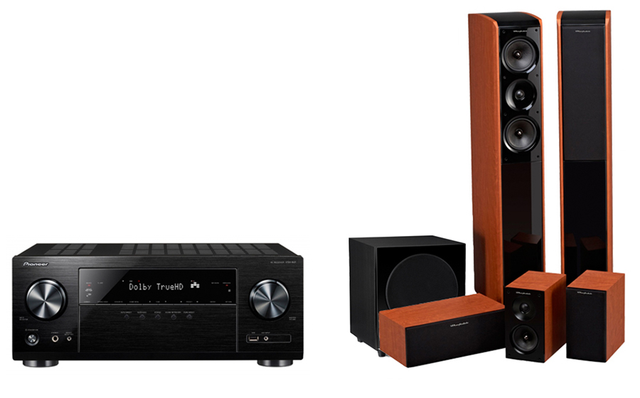 Pioneer VSX832+ Obsidian 600 + WH-S8 - 23768
