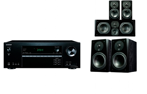 Onkyo TX-NR474 + Prime Bookshelf Surround Package - 24623