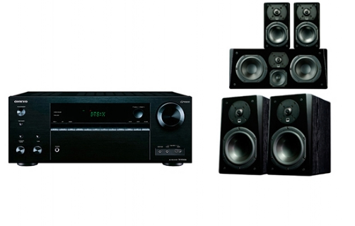 Onkyo TX-NR676 + Prime Bookshelf Surround Package - 24632