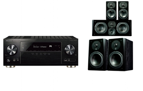 Pioneer VSX832+ Prime Bookshelf Surround Package - 24638