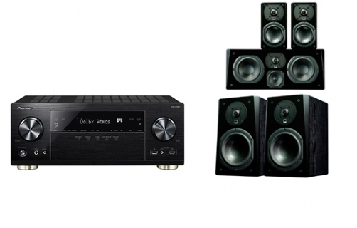 Pioneer VSX-LX302 + Prime Bookshelf Surround Package - 24646
