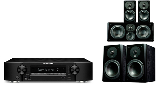 Marantz NR 1608 + Prime Bookshelf Surround Package - 25163
