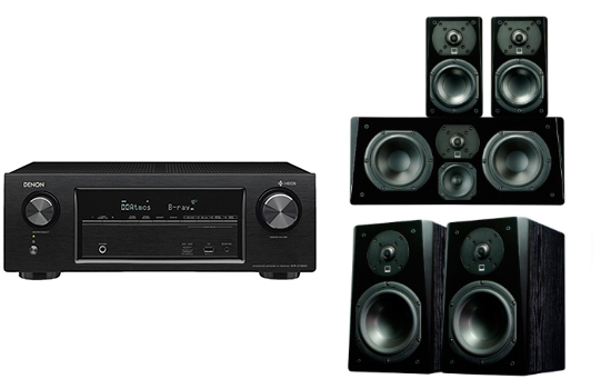 Denon AVR-X1400 + Prime Bookshelf Surround Package - 25384