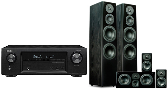 Denon AVR-X1400 + Prime Tower Surround Package - 25386