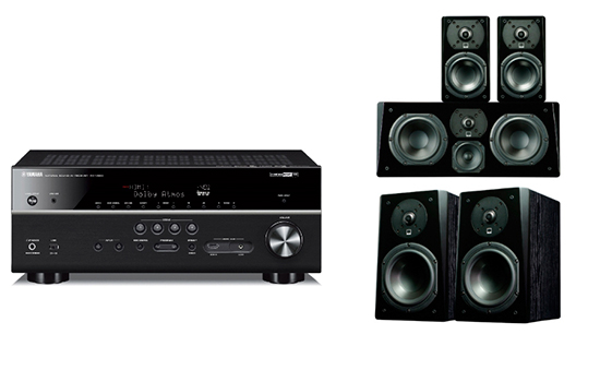 Yamaha RX-V483 + Prime Bookshelf Surround Package - 25449