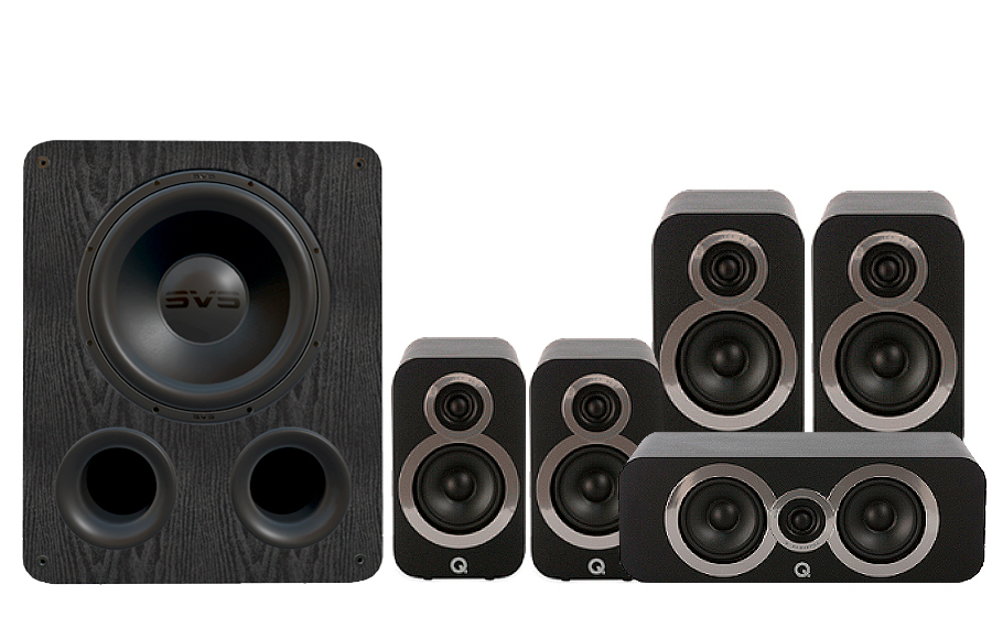 Q-Acoustics 3020i Cinema Pack + PB 1000 - 27537
