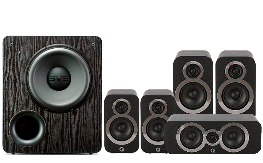 Q-Acoustics 3020i Cinema Pack + PB 2000 - 27539