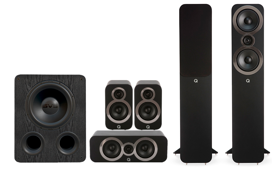Q-Acoustics 3050i Cinema Pack + PB 1000 - 27542