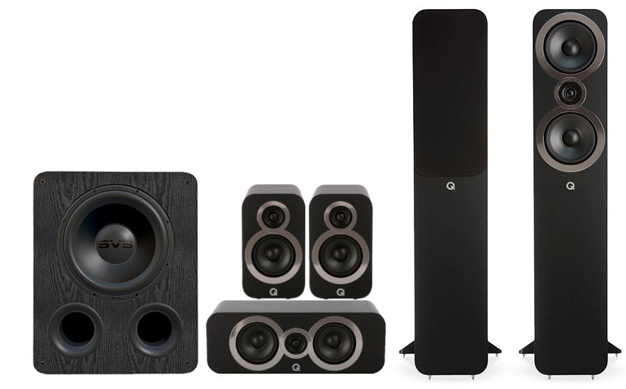 Q-Acoustics 3050i Cinema Pack + PB 1000 - 27542