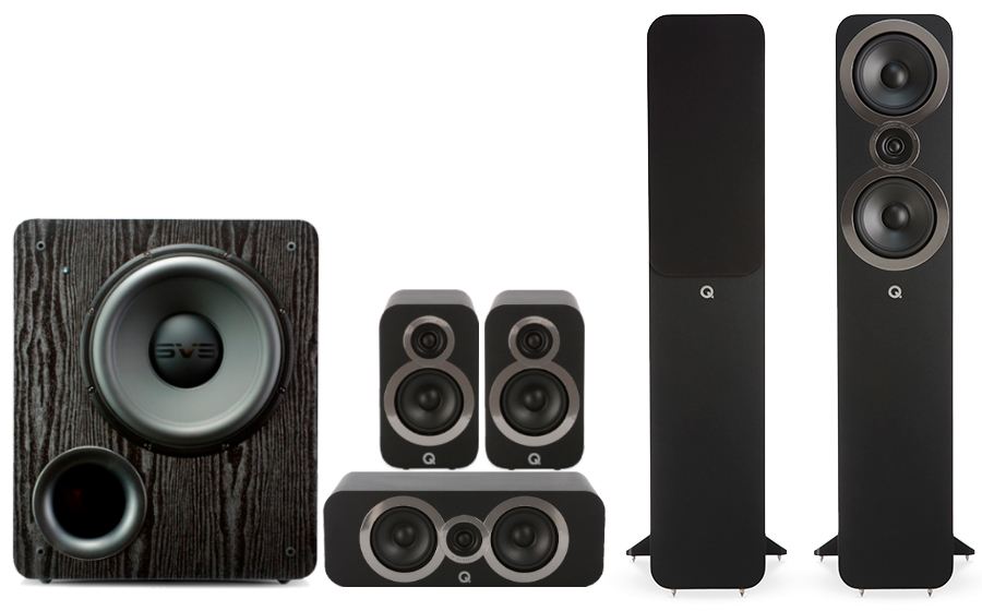 Q-Acoustics 3050i Cinema Pack + PB 2000 - 27544