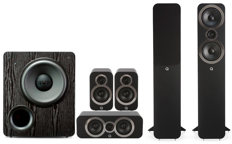Q-Acoustics 3050i Cinema Pack + PB 2000 - 27544