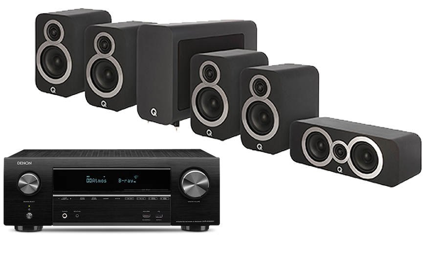 Denon AVR-X1500H + 3010i Cinema Pack - 27981