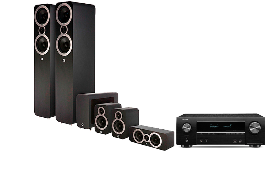 Denon AVR-X1500H + Q3050i Cinema Pack - 27990