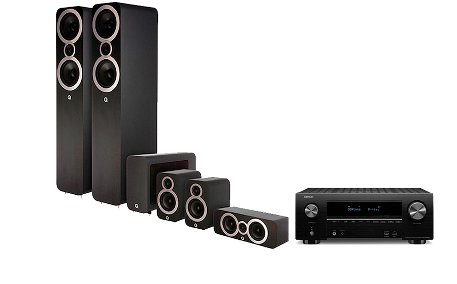 Denon AVR-X2500H + Q3050i Cinema Pack - 28010