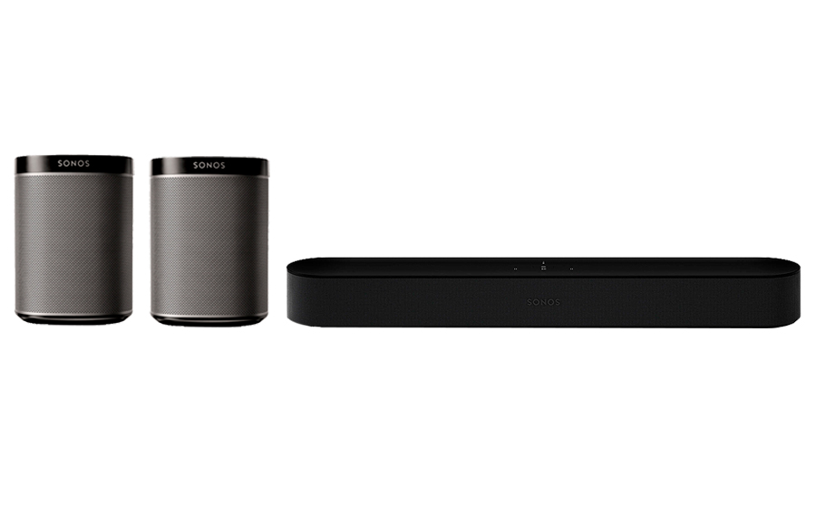 Sonos Beam + PLAY 1 PACK 2 - 28684