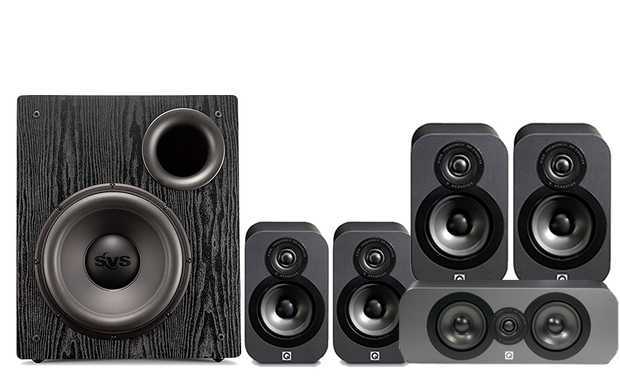 Q-Acoustics 3020 Cinema Pack + PB12 NSD - 28799